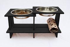 Recipiente de madera perritos