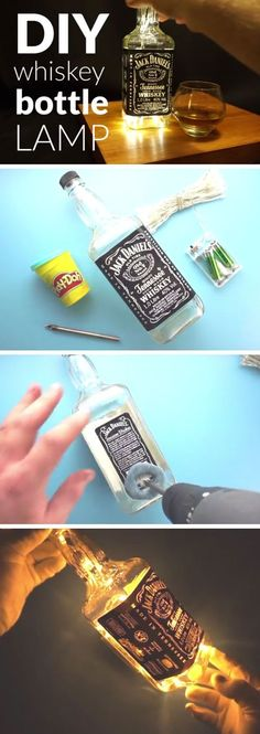 DIY Whiskey Bottle Lamp | DIY Christmas Gifts for Boyfriends Ideas | Easy Christmas Gifts for Him on a Budget