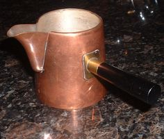 Vintage Copper Pitcher Coffee Creamer