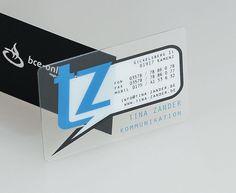 #businesscard - clear transparent business cards - http://www.bce-online.com/en/