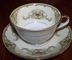 Noritake Antique 'RARE' Milford 89486 Lovely 1930's Cup and Saucer Set | eBay