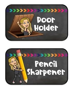 "Teaching in the Tar Heel State: Bitmoji class jobs, ""Where are we?"" sign, and levels of understanding assessments 5th Grade Classroom, Classroom Posters, Future Classroom, School Classroom, Classroom Themes, School Fun, Classroom Organization, Classroom Management, Kindergarten Classroom Jobs"