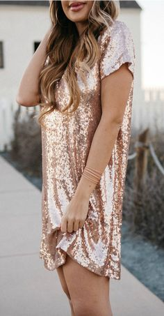 SoRkly rose champagne dress. So pretty! #lovelulus #partydresses