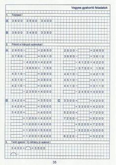 Kiszámoló 4. osztály Bullet Journal, Math, Math Resources, Mathematics