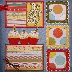 The Avid Scrapper: Birthday Scrapbook Pages for August's Class