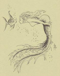 WILLIAM STOUT / Mermaid #1 Comic Art