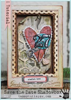Tammy Tutterow Tutorial | Save The Date Anniversary Shadowbox exclusive tutorial for Simon Says Stamp