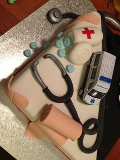 Nurse themed cake.