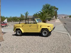 "Volkswagen 181 also called ""VW Thing"" yellow"