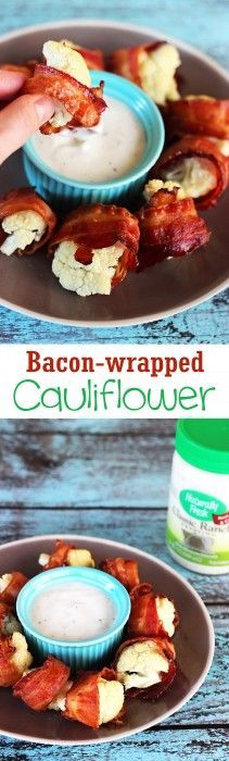 These gluten free bacon wrapped cauliflower bites make an excellent low carb snack or easy appetizer. Use the right kind of bacon and make it paleo too!