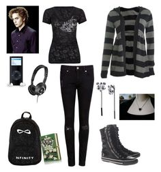 """Saved by him!~ Eve Swan!"" by selenerose-328 ❤ liked on Polyvore featuring Wet Seal, Betsey Johnson, Metal Mulisha, Ted Baker, Sennheiser, Olympia Le-Tan and Ash"