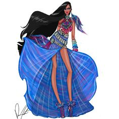 "867 Me gusta, 21 comentarios - Daren J (@darenj22) en Instagram: ""Disney fashion frenzy, pocahontas, Painting with all the colors of the wind by Daren J…"""