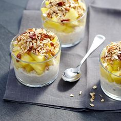 Ginger, granola and pineapple cottage cheese