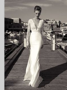 White wedding dress elegant dress