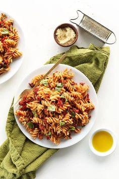 Sun-Dried Tomato Pesto Pasta (Vegan + GF)