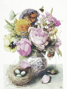 Marjolein Bastin - flowers & bird nest