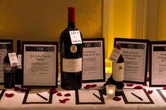 Silent auction displays with bid sheets - clean