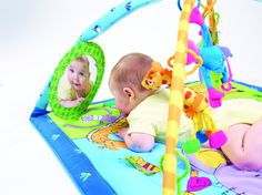 Amazon.com : Tiny Love Gymini Super Deluxe Lights & Music Play Mat : Play Gym : Baby