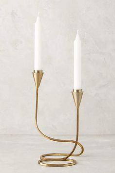 Anthropologie Cursive Candlestick