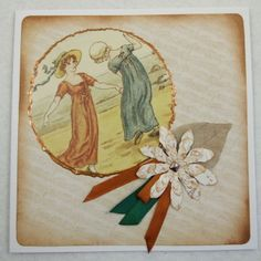 Handmade Vintage Style Greeting Card - Female - Vintage £1.35