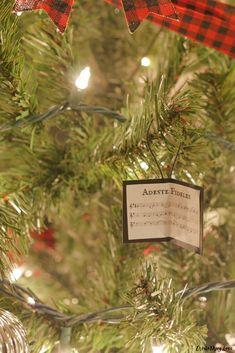 DIY Christmas Carol Sheet Music Ornaments - Create Pray Love