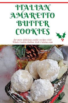 Italian Amaretto Butter Cookies