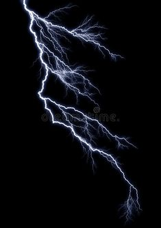 Photo about Forked Lightning against a pitch black sky. Image of forceful, nature, excite - 5168162 Black Thunder, Thunder And Lightning, Lightning Tattoo, Thunderstorm And Lightning, House Trees, Lightning Photography, Leg Sleeve Tattoo, Overlays Picsart, Iphone Background Wallpaper