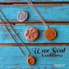 DIY Polymer Clay Wax Seal Necklace Tutorial