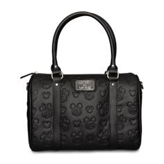 Disney embossed MIckey and Minnie duffle bag. #MinnieStyle