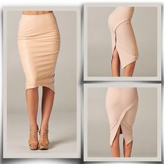 make into a dress loose off the shoulders Office Outfits, Casual Outfits, Fashion Outfits, Womens Fashion, Apron Dress, Dress Skirt, Nude Skirt, Tan Skirt, No Ordinary Girl