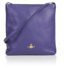 Vivienne Westwood Nappa 6571 Small Crossbody Bag (1 740 ZAR) ❤ liked on Polyvore featuring bags, handbags, shoulder bags, vivienne westwood, blue shoulder bag, zipper purse, blue cross body purse and vivienne westwood handbags