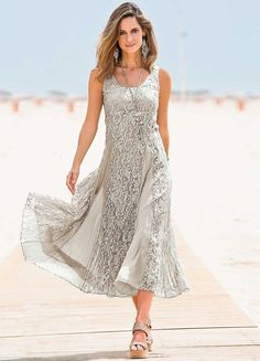 Together Crinkle Lace Dress would make a nice wedding dress! Mother Of The Bride Looks, Summer Mother Of The Bride Dresses, Mother Of The Bride Fashion, Mother Of Bride Outfits, Mother Of Groom Dresses, Bride Groom Dress, Summer Dresses, Evening Dresses, Bohemian Beach Wedding Dress