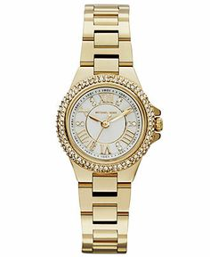 Michael Kors Women's Camille Gold-Tone Stainless Steel Bracelet Watch 26mm MK3252 - Watches - Jewelry & Watches - Macy's