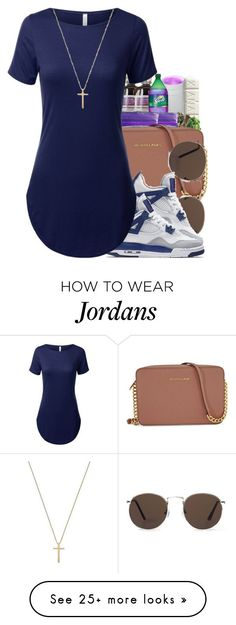 """""""No dedication"""" by trap-ical on Polyvore featuring Michael Kors, MANGO, NIKE and Gucci"""