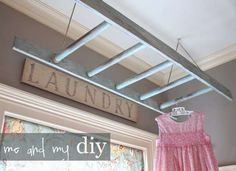 DIY Laundry Drying Rack