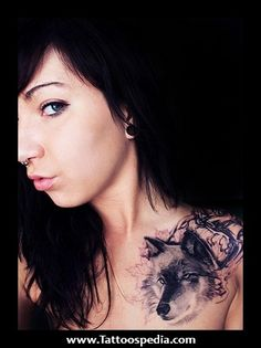 wolf tribal tattoo woman feminine - Google Search