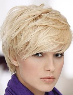 short hairstyles with bangs.  Kay this is a cute haircut