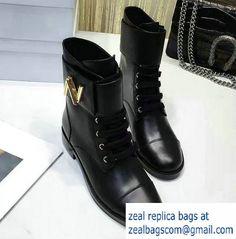 Louis Vuitton Calfskin Boots Black 2016