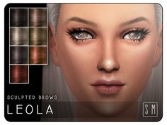 The Sims Resource: Leola - Sculpted Brows by ScreamingMustard • Sims 4 Downloads