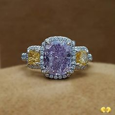 Another view of one of our favorite diamonds - a rare 2.49 carat Fancy Intense Purple Pink Diamond.  #novelcollectionny