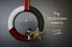 DIY Christmas Wreath - Living YOUR Creative