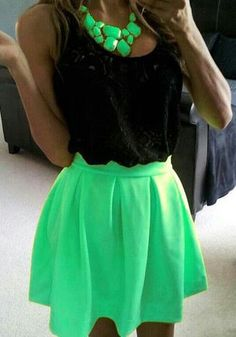 Loving the short statement. Lime is bold & beautiful, i know lots of people who could ROCK this look.
