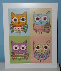 easy art - made of greeting cards!