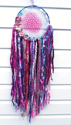 Boho Gypsy Lace Doily Dreamcatcher Wall by whiteravendesignsau