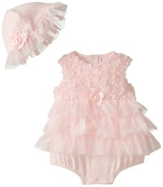 Amazon.com: Little Me Baby-Girls Newborn Rosette Popover and Hat: Clothing