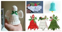 Crochet Christmas Bells make a beautiful ornament. You can make them with this collection of Free Christmas Bell Ornament Crochet Patterns.