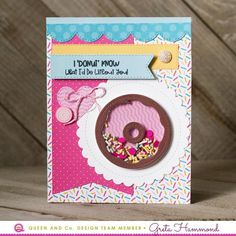 Sweet Shop Kit Create amazingly easy and adorable birthday, thank you, thinking of you, or friendship shaker cards with a very 'sweet' theme, thanks to the new Sweet Shop Shaker Card Kit from Queen and Company. Bee Cards, Cross Stitch Cards, Shaker Cards, Girl Day, Card Sketches, Card Kit, Kids Cards, Recipe Cards, Amazing Flowers