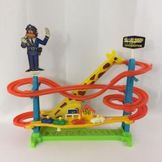 Vintage 1980 Game Zooland Jet Coaster Battery Operated Electric Works See Video #CalfaxInc
