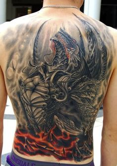 This is one intense dragon piece.: