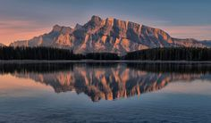Reflected Rundle by Jeff Clow on 500px
